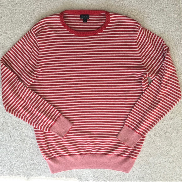 6240eac3105 J. Crew Other - J. Crew Men s Red and White Striped Sweater